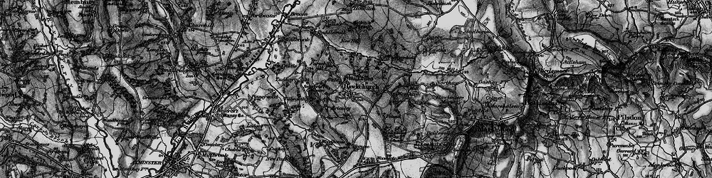 Old map of Hawkchurch in 1898