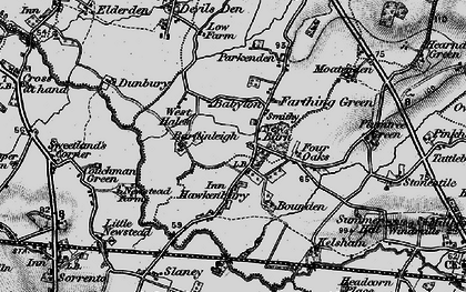 Old map of Bardingley in 1895