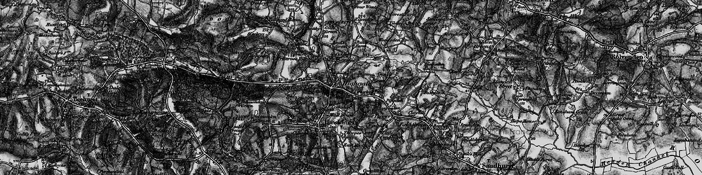 Old map of Hawkhurst in 1895