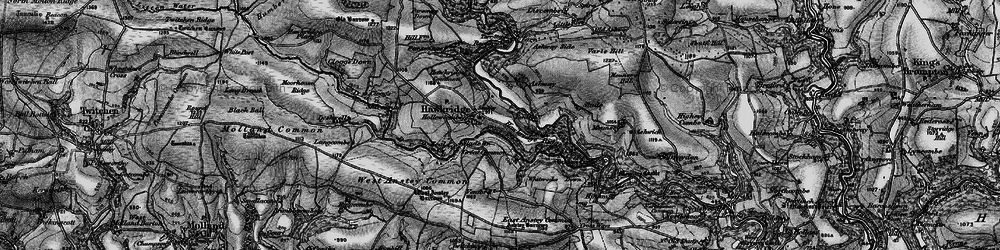 Old map of Whiterocks Down in 1898