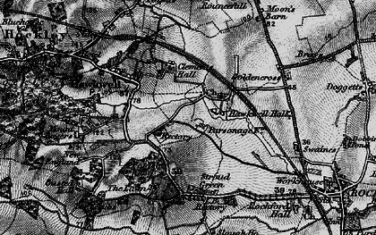 Old map of Hawkwell in 1896