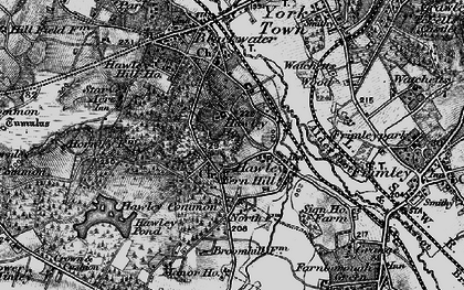 Old map of Hawley in 1895