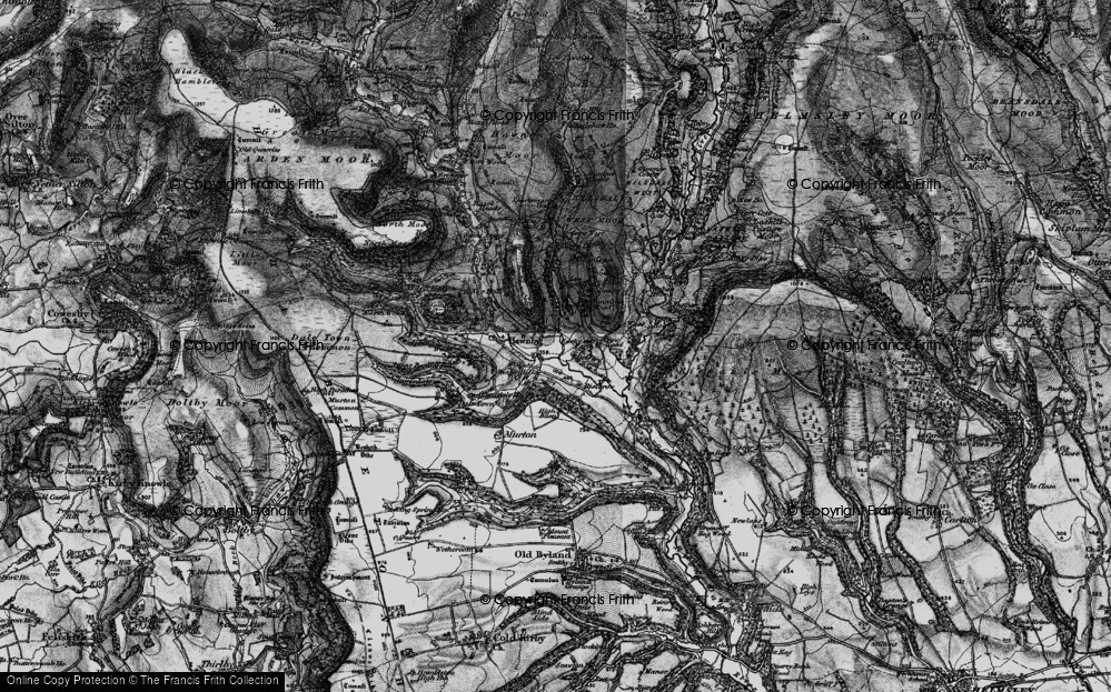Old Map of Historic Map covering Timber Holme in 1898
