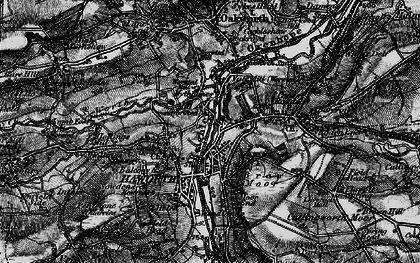 Old map of Haworth in 1898