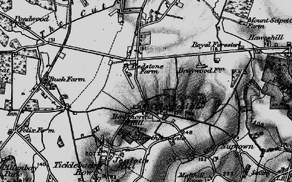 Old map of Hawthorn Hill in 1895
