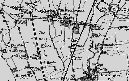 Old map of Wigginton Lodge in 1898