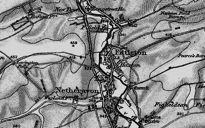 Old map of Haxton in 1898