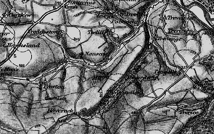 Old map of Hay in 1895