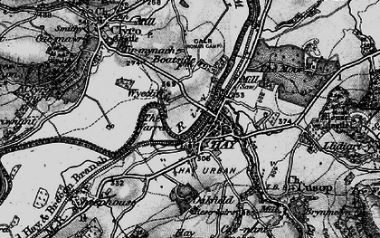 Old map of Wyecliff in 1896