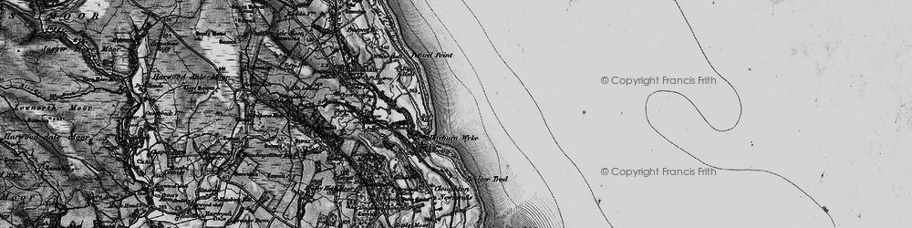 Old map of Hayburn Wyke in 1897