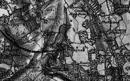 Old map of Hayes in 1895