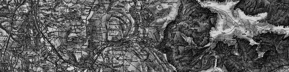 Old map of Hayfield in 1896