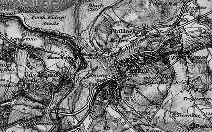 Old map of Hayle in 1896