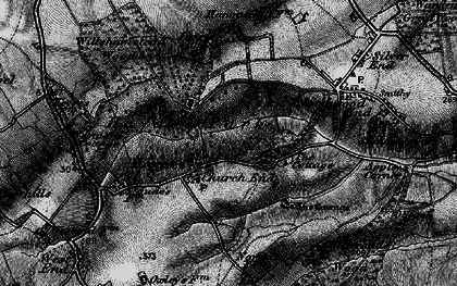 Old map of Haynes Church End in 1896