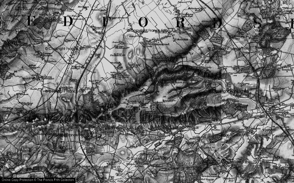 Old Map of Historic Map covering Lark Hill in 1896