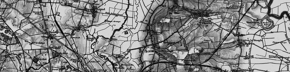 Old map of Tiln Holt in 1899