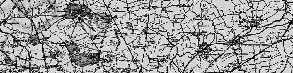 Old map of Wrancarr Ho in 1895