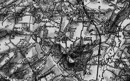 Old map of Lewes Heath in 1895