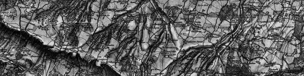 Old map of Admiral Wood in 1895