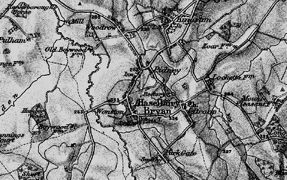 Old map of Hazelbury Bryan in 1898