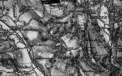 Old map of Windley Meadows in 1895