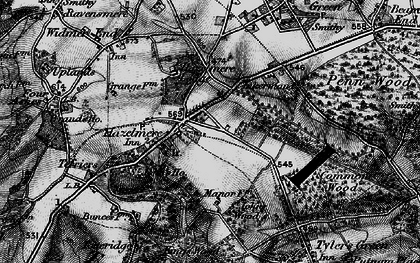 Old map of Hazlemere in 1895