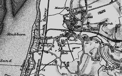 Old map of Heacham in 1898