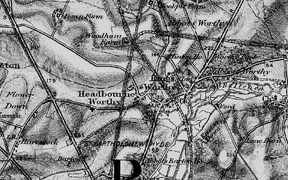 Old map of Headbourne Worthy in 1895