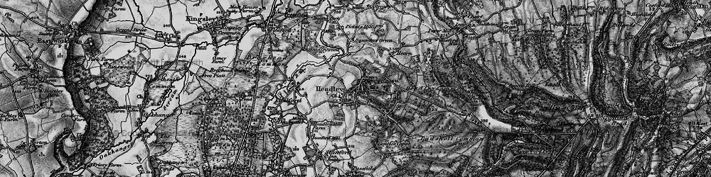 Old map of Headley in 1895