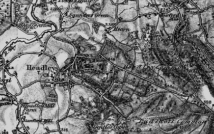Old map of Headley Down in 1895