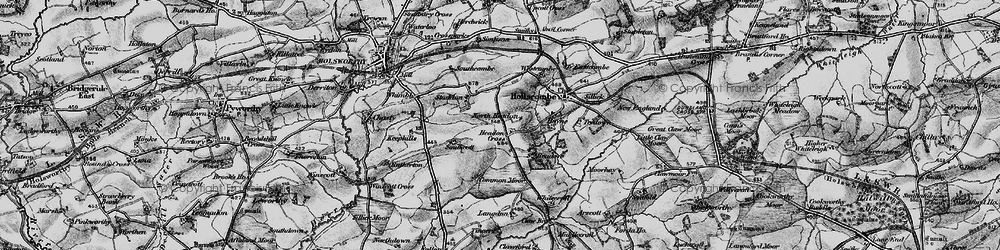 Old map of Whitecroft in 1895