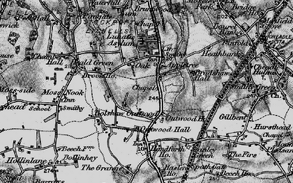 Old map of Heald Green in 1896
