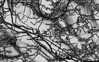 Old map of Healey in 1896