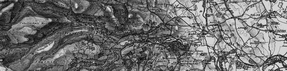 Old map of Healey in 1897