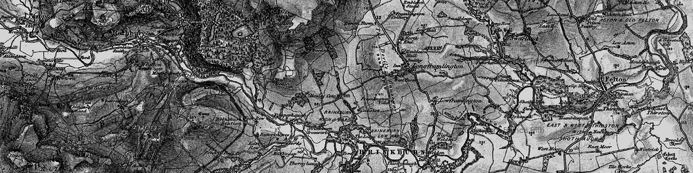 Old map of West Raw in 1897