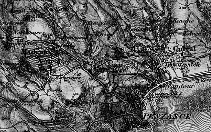 Old map of Heamoor in 1895