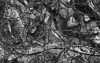 Old map of Banner Rigg in 1897