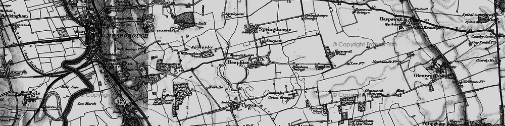 Old map of Willoughton Wood in 1895