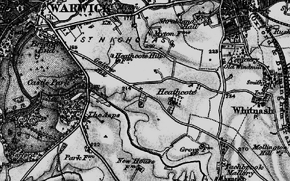 Old map of Asps, The in 1898
