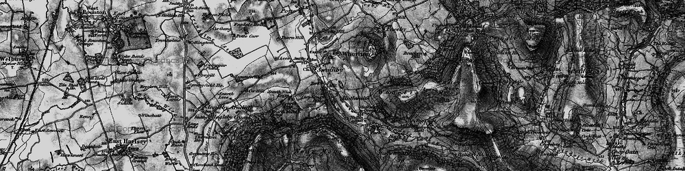 Old map of Whorlton Ho in 1898