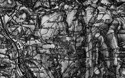 Old map of Willott's Hill in 1897