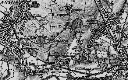 Old map of Heaton Mersey in 1896