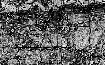 Old map of Yaldham Manor in 1895