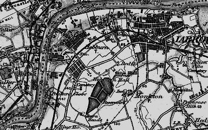 Old map of Hebburn in 1898