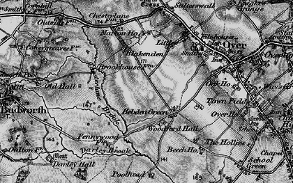Old map of Woodford Hall in 1897