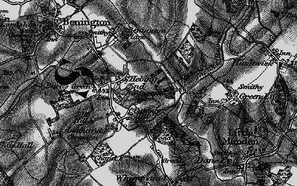 Old map of Hebing End in 1896