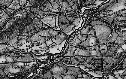 Old map of Hebron in 1898