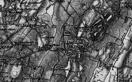 Old map of Hebron in 1899