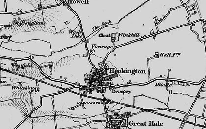 Old map of Winkhill in 1898
