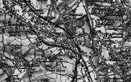 Old map of Heckmondwike in 1896
